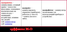 суффиксы М-О